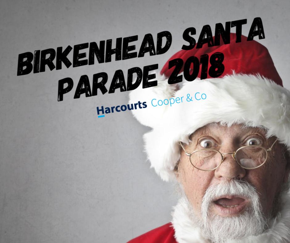 Santa parade Harcourts Birkenhead
